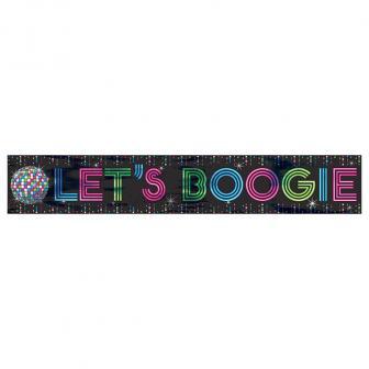 """Metallic Banner """"Let´s Boogie"""" 760 cm"""