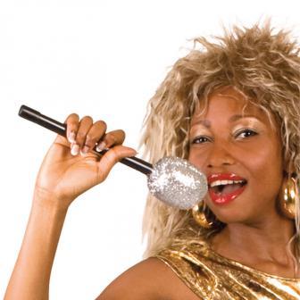Mikrofon mit Silber-Glitter 26 cm