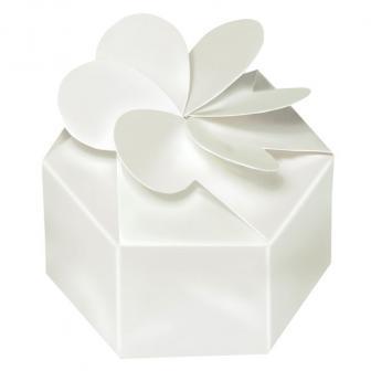 """Mini Geschenkboxen """"Weiße Überraschung"""" 12er Pack"""