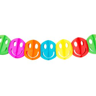 "Mini-Girlande ""Bunte Smilies"" 2 m"