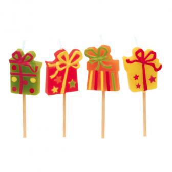 "Mini-Kerzen auf Zahnstocher ""Happy Birthday"" 8er Pack"