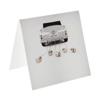 """Namenskarte """"Just Married Cabrio"""" 5 x 5 cm 6er Pack"""