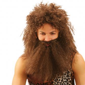 Neandertaler-Perücke mit Bart