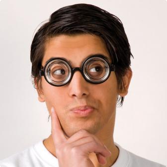 Nerd-Brille Verrückter Professor