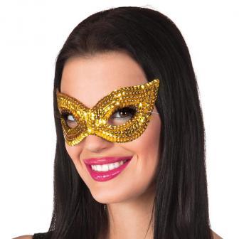 Paillettenbesetzte Augenmaske -gold