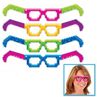 """Papp-Sonnenbrillen """"80er Jahre Modus"""" 4er Pack"""