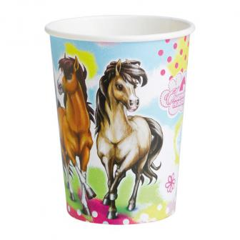"Pappbecher ""Charming Horses"" 8er Pack"