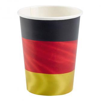 """Pappbecher """"Deutschland"""" 8er Pack"""