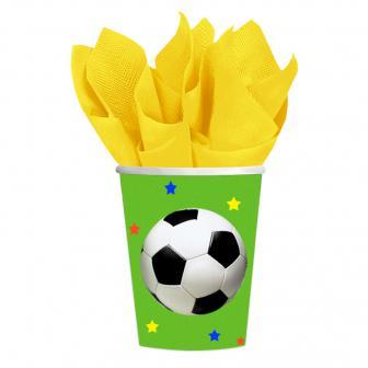 Pappbecher Fußball  8er Pack