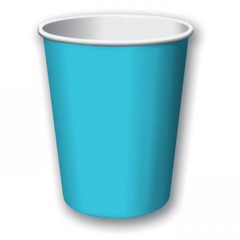 Pappbecher 24er Pack-karibik-blau