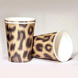 """Pappbecher """"Leoparden-Look"""" 10er Pack"""