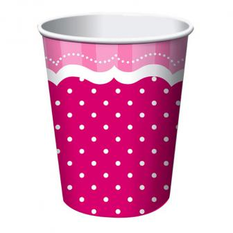 "Pappbecher ""Pretty Pink"" 8er Pack"