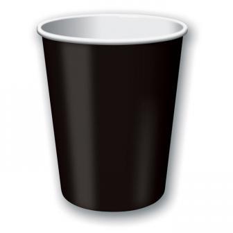 Pappbecher 24er Pack-schwarz