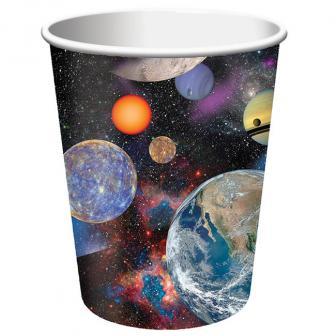 """Pappbecher """"Space Shuttle und Planeten"""" 8er Pack"""