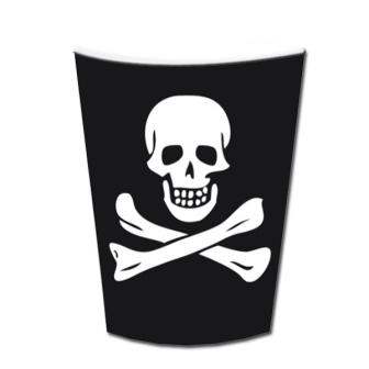 """Pappbecher """"Jolly Roger Party"""" 6er Pack"""