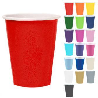 Einfarbige Pappbecher 266 ml 8er Pack