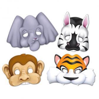 Pappmasken Tierfreunde 4-tlg.