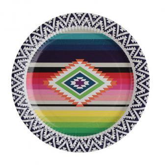 """Pappteller """"Buntes Mexiko"""" 10er Pack"""