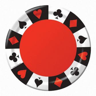 """Pappteller """"Casino Life"""" 8er Pack"""