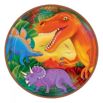 Pappteller Dino-Welt 23 cm 8er Pack