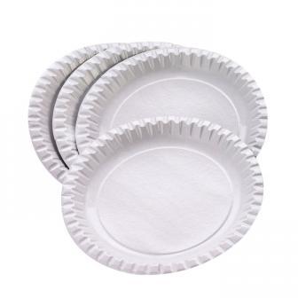 Weiße Pappteller 50er Pack