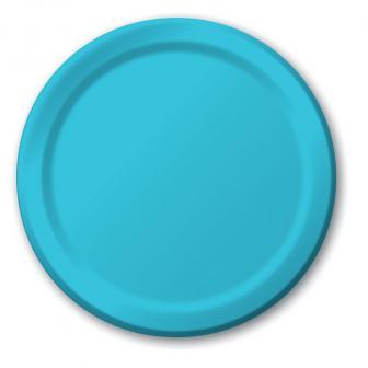Pappteller 24er Pack-karibik-blau