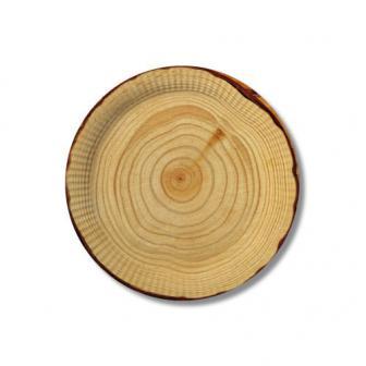 Pappteller in Holzoptik 23 cm 10er Pack