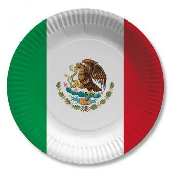 """Pappteller """"Mexiko"""" 10er Pack"""