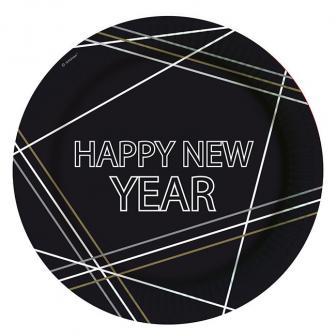 """Pappteller """"New Year Celebration"""" 8er Pack"""