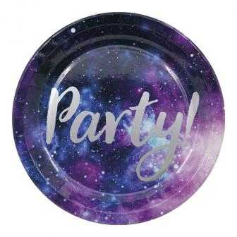 """Pappteller """"Party-Galaxie"""" 8er Pack"""