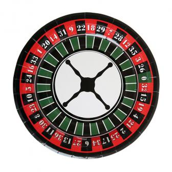 """Pappteller """"Roulette"""" 10er Pack"""