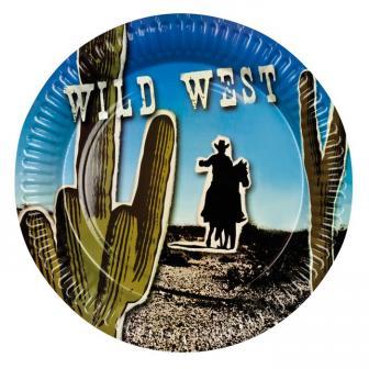 """Pappteller """"Wild West"""" 6er Pack"""