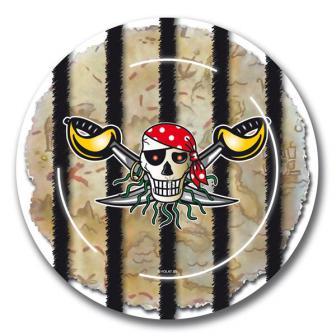 "Pappteller ""Wilde Piraten"" 8er Pack"