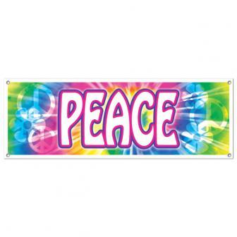 "Party-Banner ""Peace"" 53 x 150 cm"