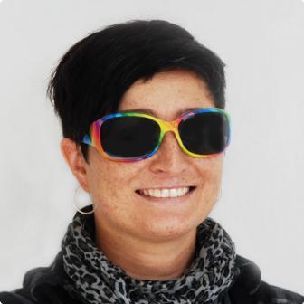 """Party-Brille """"Regenbogenfarben"""" 14 cm"""