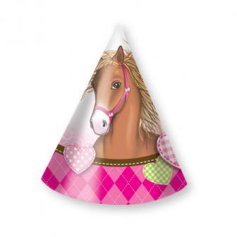 """Party-Hütchen """"Pferdegeflüster"""" 6er Pack"""
