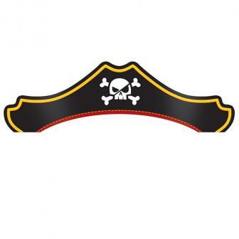 """Party-Hütchen """"Piraten auf großer Fahrt"""" 8er Pack"""