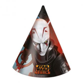 "Partyhütchen ""Star Wars Rebels"" 6er Pack"
