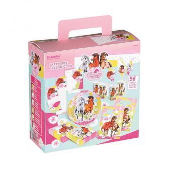 "Partypaket ""Charming Horses"" 56-tlg."