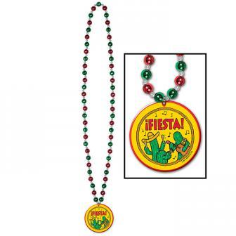 """Perlenkette mit Anhänger """"!FIESTA!"""" 81 cm"""