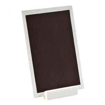 Personalisierbare Holz-Tafel mit Aufsteller 15 x 10 cm-weiß