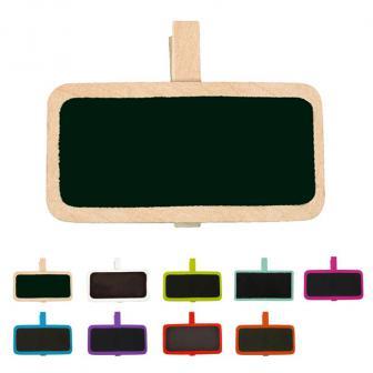 Personalisierbare Namenstafel mit Klammer 12er Pack