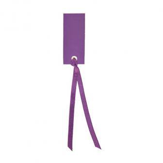 Personalisierbare Namenskarten mit Satinband 12er Pack-lila