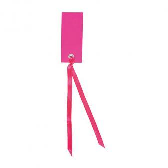 Personalisierbare Namenskarten mit Satinband 12er Pack-pink