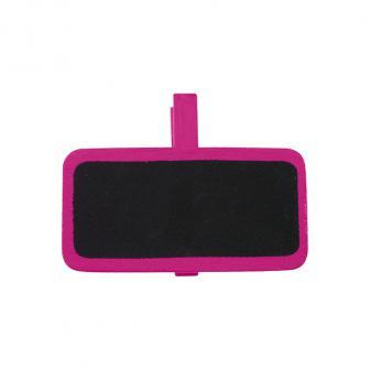 Personalisierbare Namenstafel mit Klammer 12er Pack-pink