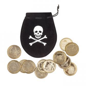 """Piratenbeutel Münzen """"Jolly Roger Party"""""""