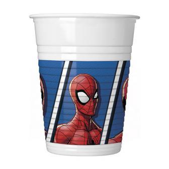 """Plastikbecher """"Spiderman"""" 8er Pack"""