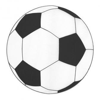 "Platzset ""Fußball"" aus Deko-Vlies 6er Pack"