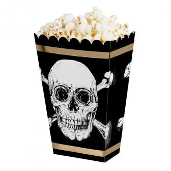 "Popcorn-Tüten ""Totenkopf des Grauens"" 4er Pack"