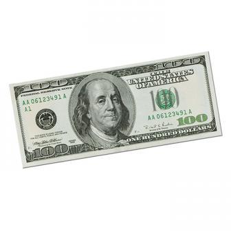 Raumdeko 100-Dollar-Schein 45 cm